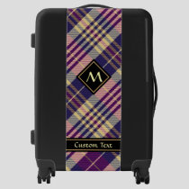 Purple, Gold and Blue Tartan Luggage