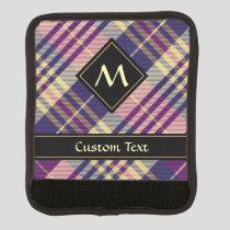 Purple, Gold and Blue Tartan Luggage Handle Wrap