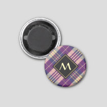 Purple, Gold and Blue Tartan Magnet