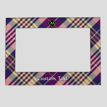 Purple, Gold and Blue Tartan Magnetic Frame