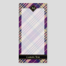Purple, Gold and Blue Tartan Magnetic Notepad