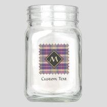 Purple, Gold and Blue Tartan Mason Jar