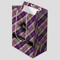 Purple, Gold and Blue Tartan Medium Gift Bag
