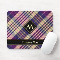 Purple, Gold and Blue Tartan Mouse Pad