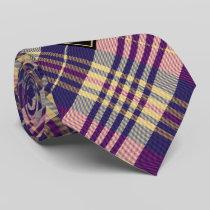 Purple, Gold and Blue Tartan Neck Tie