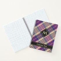 Purple, Gold and Blue Tartan Notebook