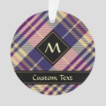 Purple, Gold and Blue Tartan Ornament