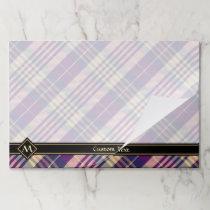 Purple, Gold and Blue Tartan Paper Pad