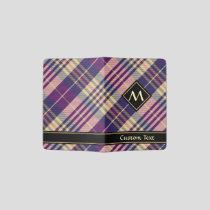 Purple, Gold and Blue Tartan Passport Holder