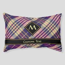 Purple, Gold and Blue Tartan Pet Bed