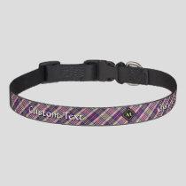 Purple, Gold and Blue Tartan Pet Collar