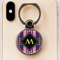 Purple, Gold and Blue Tartan Phone Ring Stand