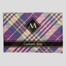 Purple, Gold and Blue Tartan Pillow Case