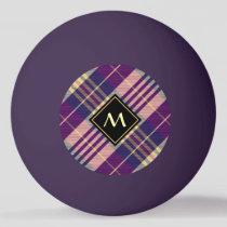 Purple, Gold and Blue Tartan Ping Pong Ball