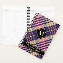 Purple, Gold and Blue Tartan Planner