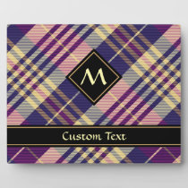 Purple, Gold and Blue Tartan Plaque