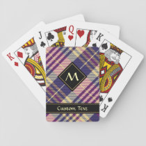 Purple, Gold and Blue Tartan Playing Cards