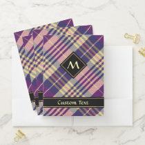 Purple, Gold and Blue Tartan Pocket Folder