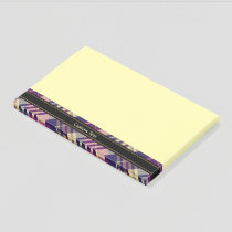Purple, Gold and Blue Tartan Post-it Notes