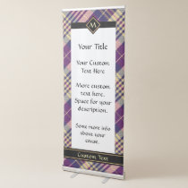Purple, Gold and Blue Tartan Retractable Banner