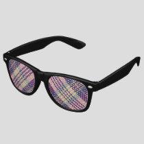Purple, Gold and Blue Tartan Retro Sunglasses