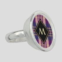 Purple, Gold and Blue Tartan Ring