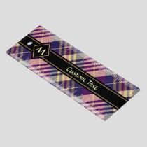 Purple, Gold and Blue Tartan Ruler