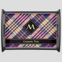 Purple, Gold and Blue Tartan Serving Tray