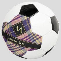 Purple, Gold and Blue Tartan Soccer Ball