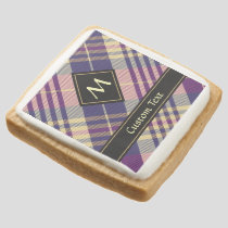 Purple, Gold and Blue Tartan Square Shortbread Cookie