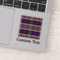 Purple, Gold and Blue Tartan Sticker