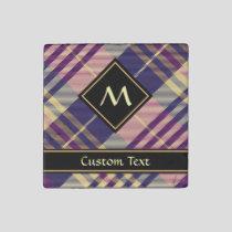 Purple, Gold and Blue Tartan Stone Magnet