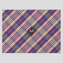 Purple, Gold and Blue Tartan Tablecloth