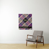 Purple, Gold and Blue Tartan Tapestry