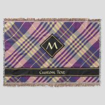 Purple, Gold and Blue Tartan Throw Blanket