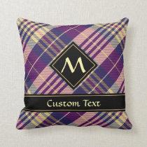 Purple, Gold and Blue Tartan Throw Pillow