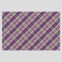 Purple, Gold and Blue Tartan Tissue Paper