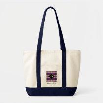 Purple, Gold and Blue Tartan Tote Bag