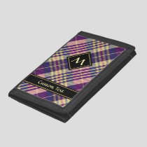 Purple, Gold and Blue Tartan Trifold Wallet