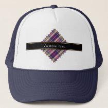 Purple, Gold and Blue Tartan Trucker Hat