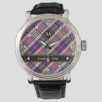 Purple, Gold and Blue Tartan Watch