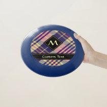 Purple, Gold and Blue Tartan Wham-O Frisbee