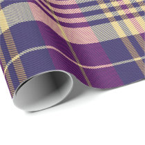 Purple, Gold and Blue Tartan Wrapping Paper