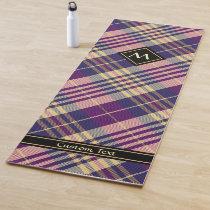 Purple, Gold and Blue Tartan Yoga Mat