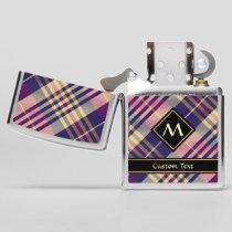 Purple, Gold and Blue Tartan Zippo Lighter