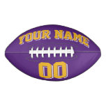 PURPLE GOLD AND WHITE Custom Football