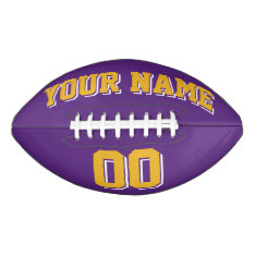 Purple Gold And White Custom Football at Zazzle