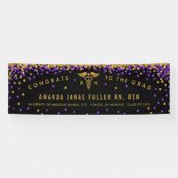 Purple & Gold Banner for Nurse Graduation Party