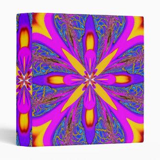 Purple Gold Burst Binder