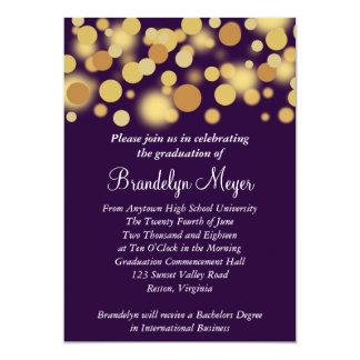 Purple Gold Celebration Graduation Announcement